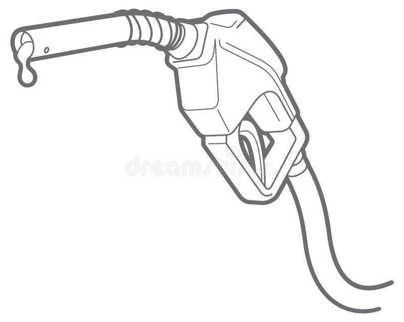 Vector outline filling gun vector illustration