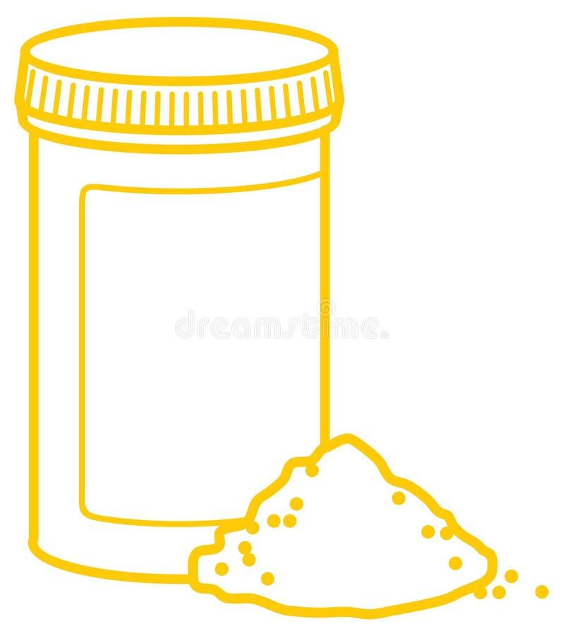 Vector outline packaging of medicines vector illustration