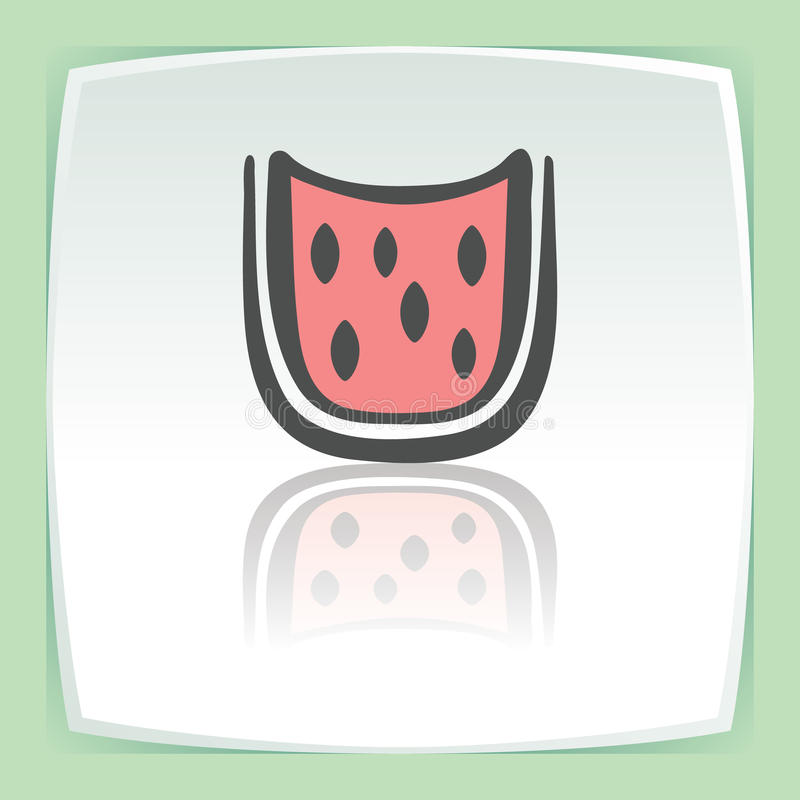 Vector outline watermelon slice fruit icon. Modern logo and pictogram. vector illustration