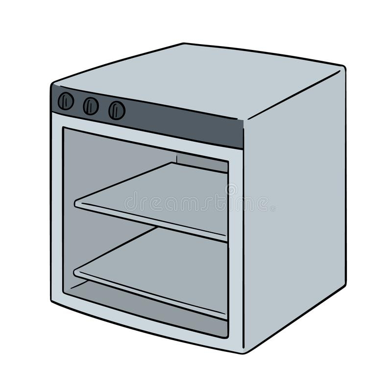 Vector of oven. Hand drawn cartoon, doodle illustration vector illustration