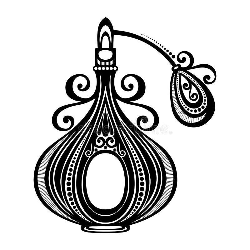 Vector Overladen Parfum stock illustratie
