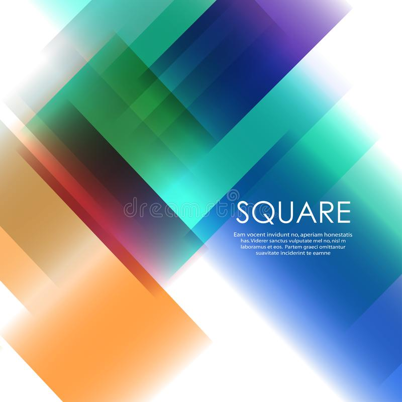Vector overlapping color square network design vector illustration