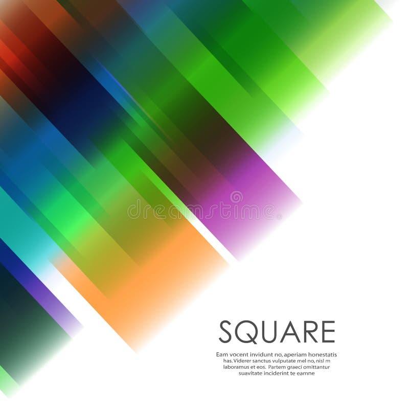Vector overlapping color square network design stock illustration