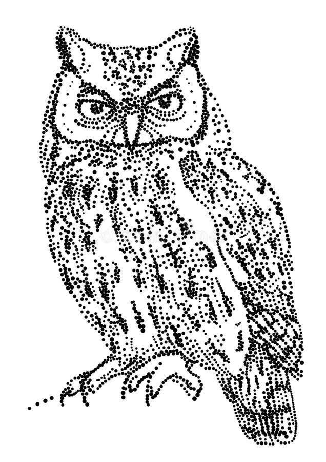 Vector Owl Stock Image