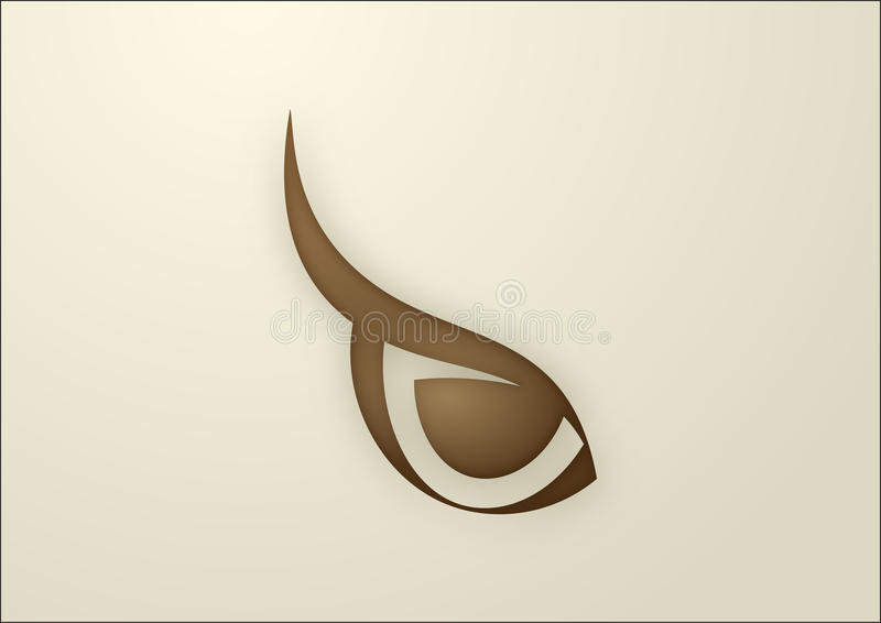 Vector owl eye vector illustration