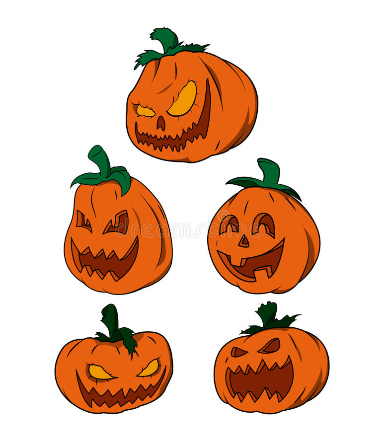 Vector pack - Halloween Pumpkins stock photo