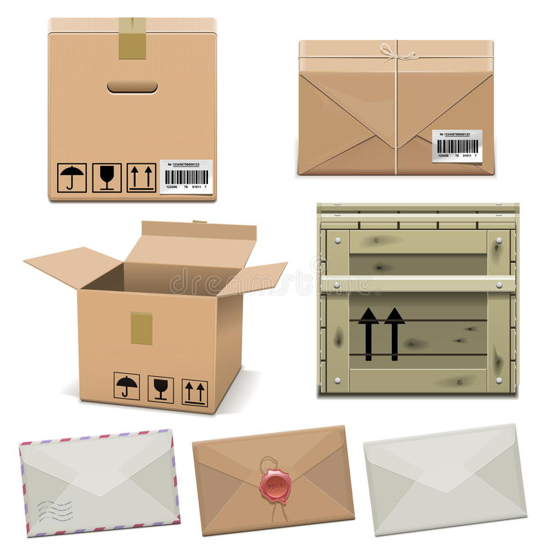 Vector Package Icons vector illustration