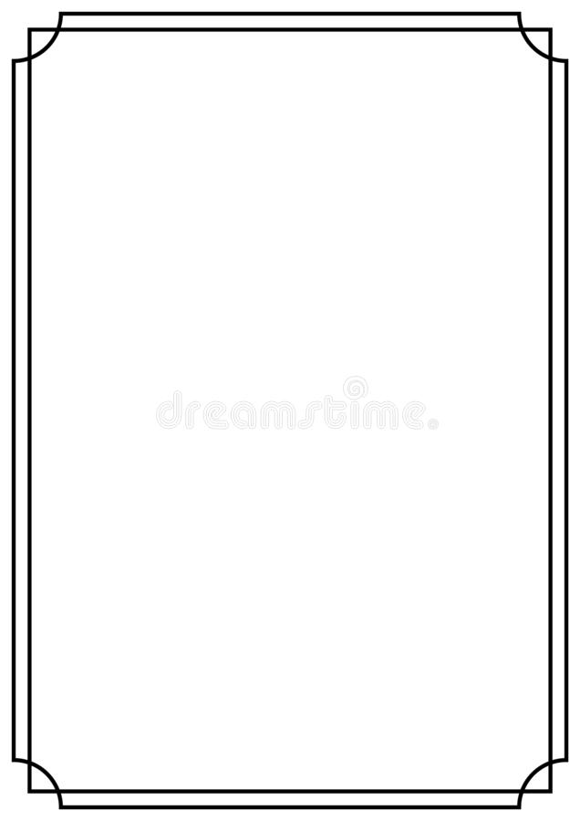Free Vector Page Border A4 Design For Project Stock Photography - 144839742