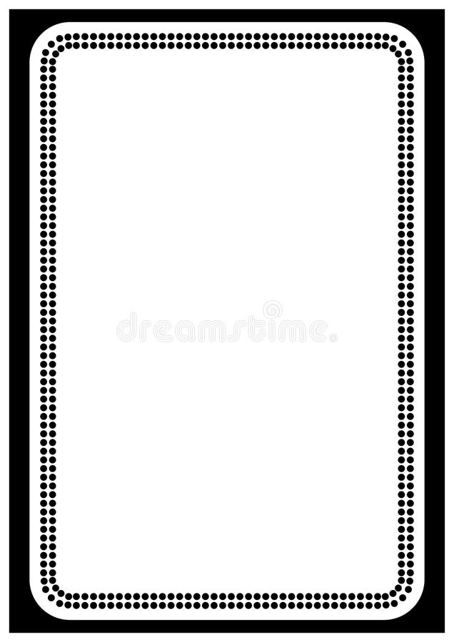 Vector Page Border A4 Design For Project Stock Vector - Illustration ...