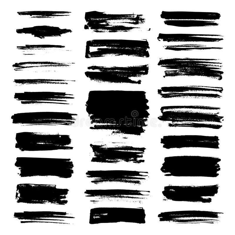 Free Vector Paint Brush Strokes Collection Royalty Free Stock Photography - 110161497