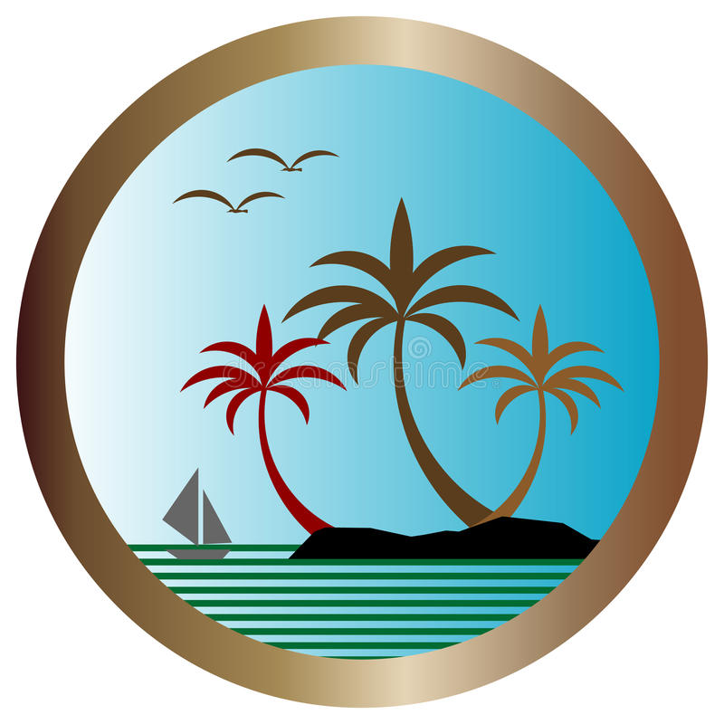 Free Vector Palm Island Stock Images - 12167254
