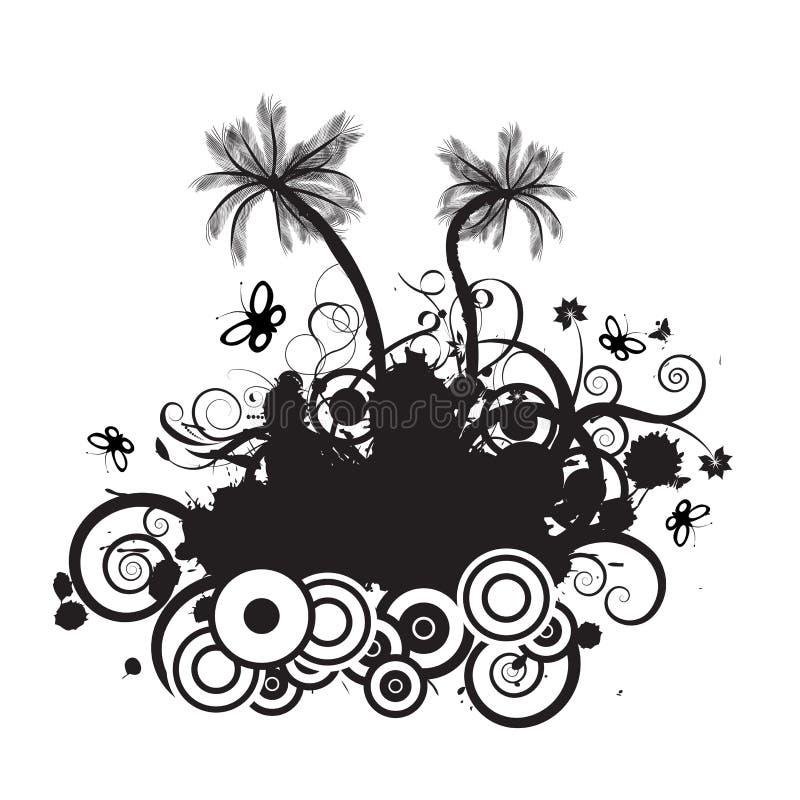 Vector palmtree design royalty free illustration