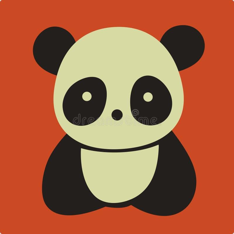 Vector panda. Vector Illustration of cute panda