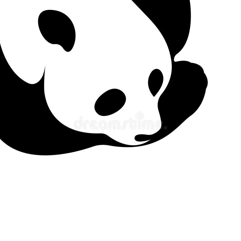 Vector of a panda design on a white background. royalty free illustration