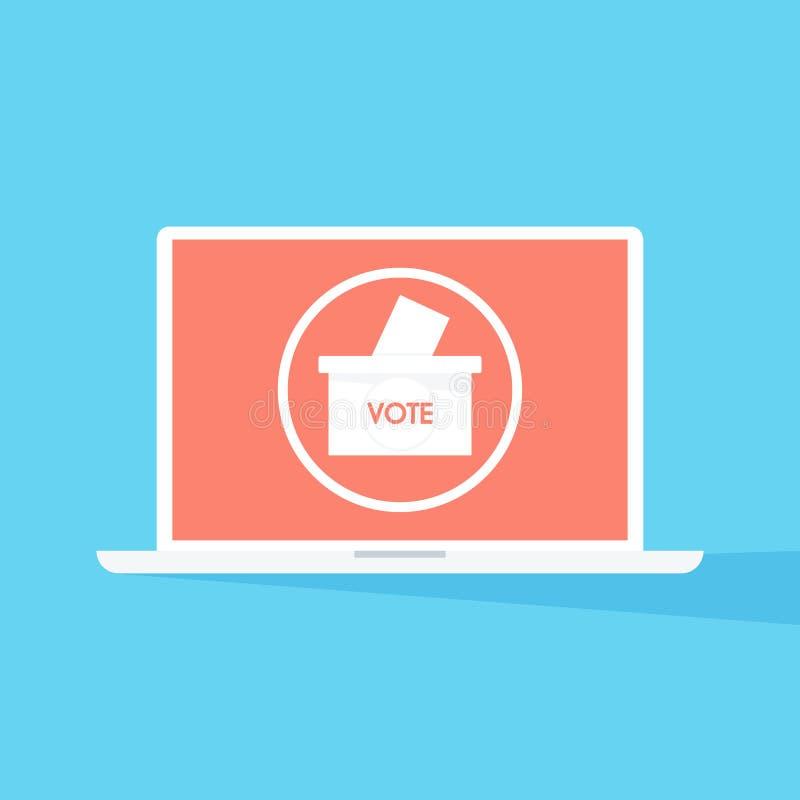 Vector of paper in the ballot box. Voting concept. stock photos