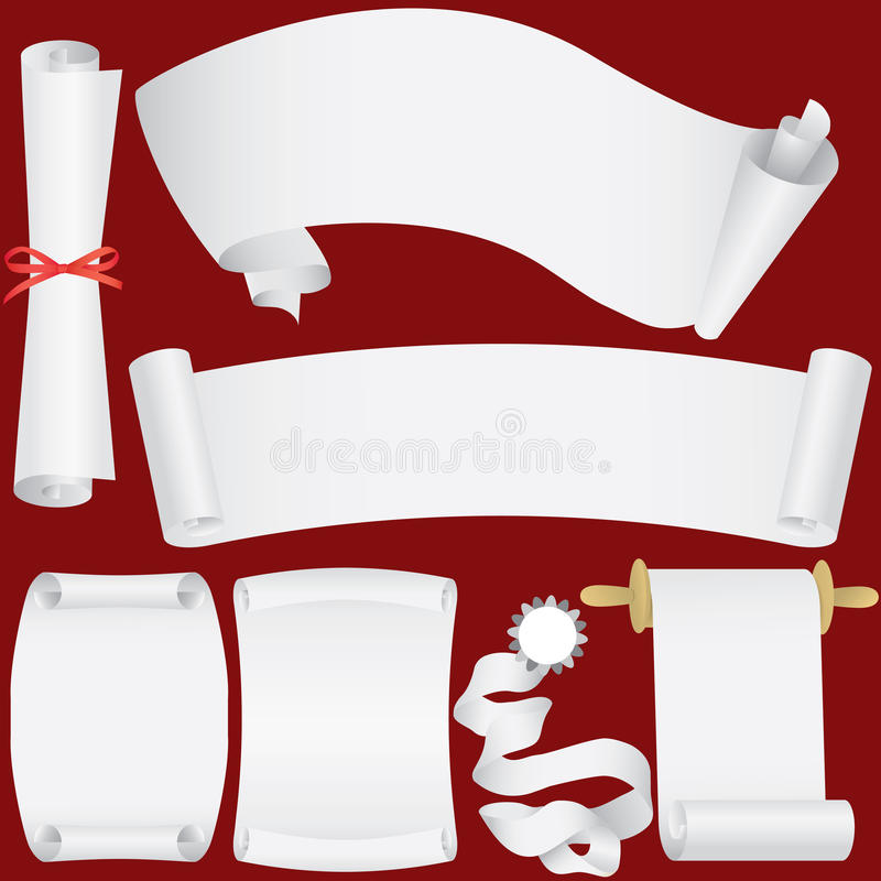 Download Vector Paper Banners, Scrolls And Diploma Set Royalty Free Stock Images - Image: 10063379