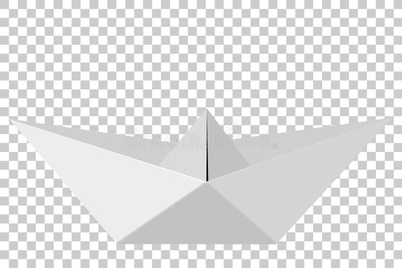 Paper Boat, at Transparent Effect Background stock illustration