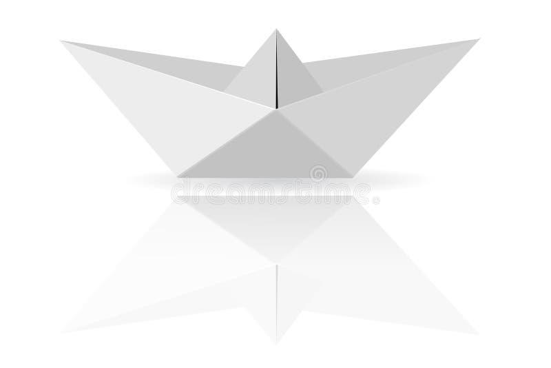 Paper Boat, at Transparent White Background. Vector Paper Boat, at Transparent White Background vector illustration