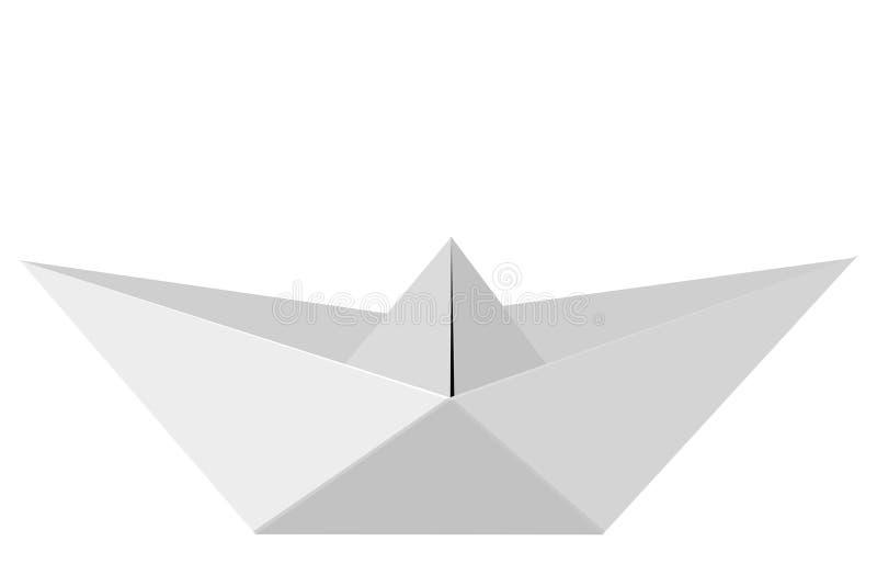 Paper Boat at white background vector illustration