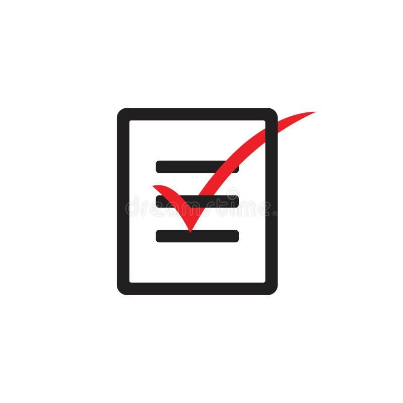 Vector of paper check write icon vector illustration