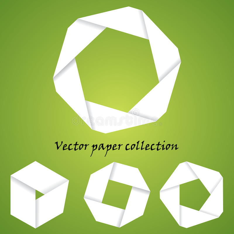 Vector paper collection royalty free stock image