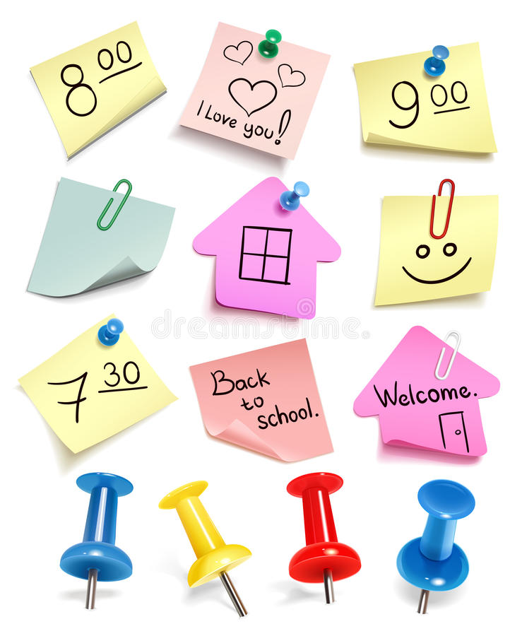 Download Vector paper notes stock vector. Illustration of collection - 20606352