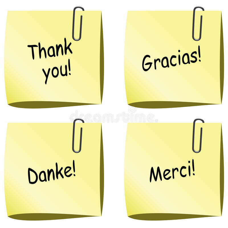 Download Vector Paper Notes With Thank You Words Stock Vector - Illustration: 22543348