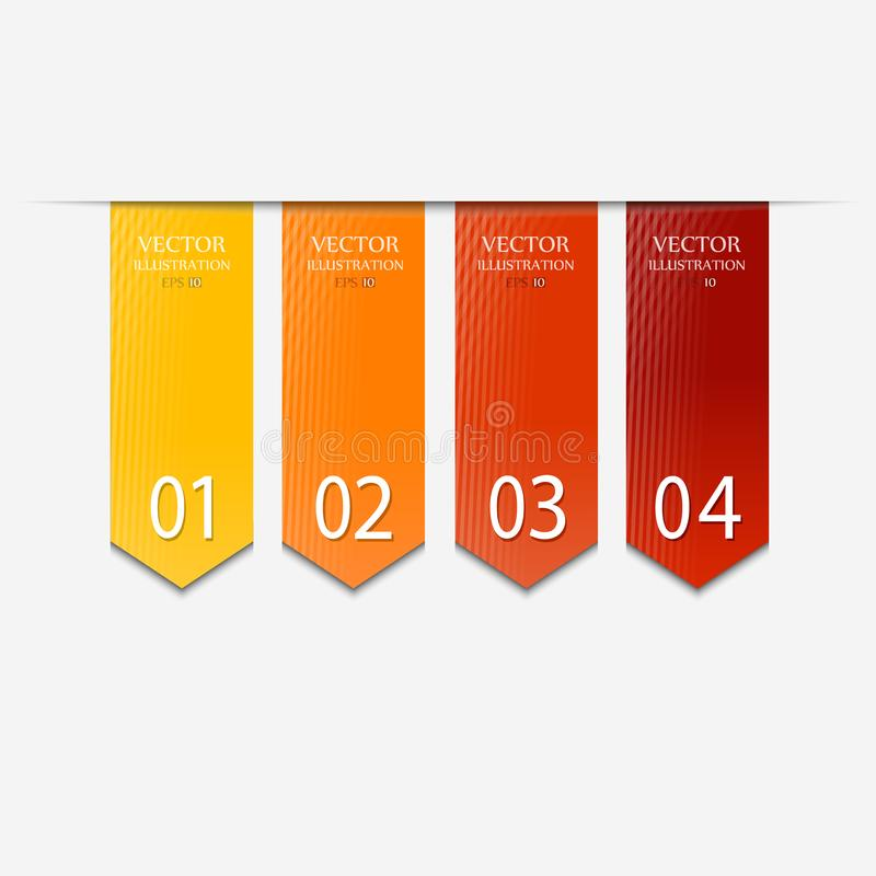 Vector Paper Progress background stock illustration