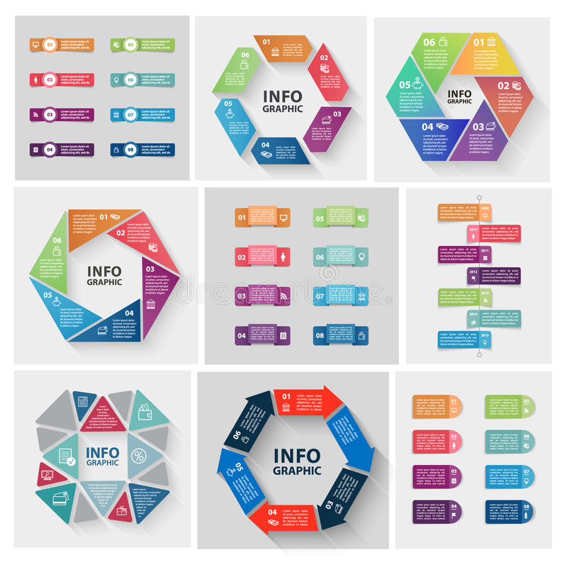 Vector paper triangle stickers and labels with vector illustration