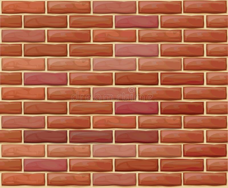 Vector a parede de tijolo sem emenda feita de tijolos vermelhos ilustração stock