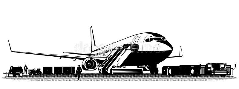 Download Vector passenger airliner stock vector. Illustration of transportation - 20258289