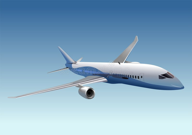 Vector passenger dreamliner stock illustration