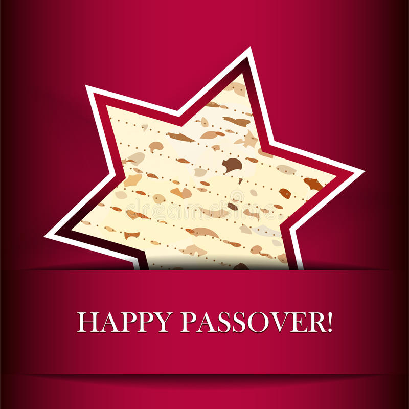Passover card with matza stock illustration