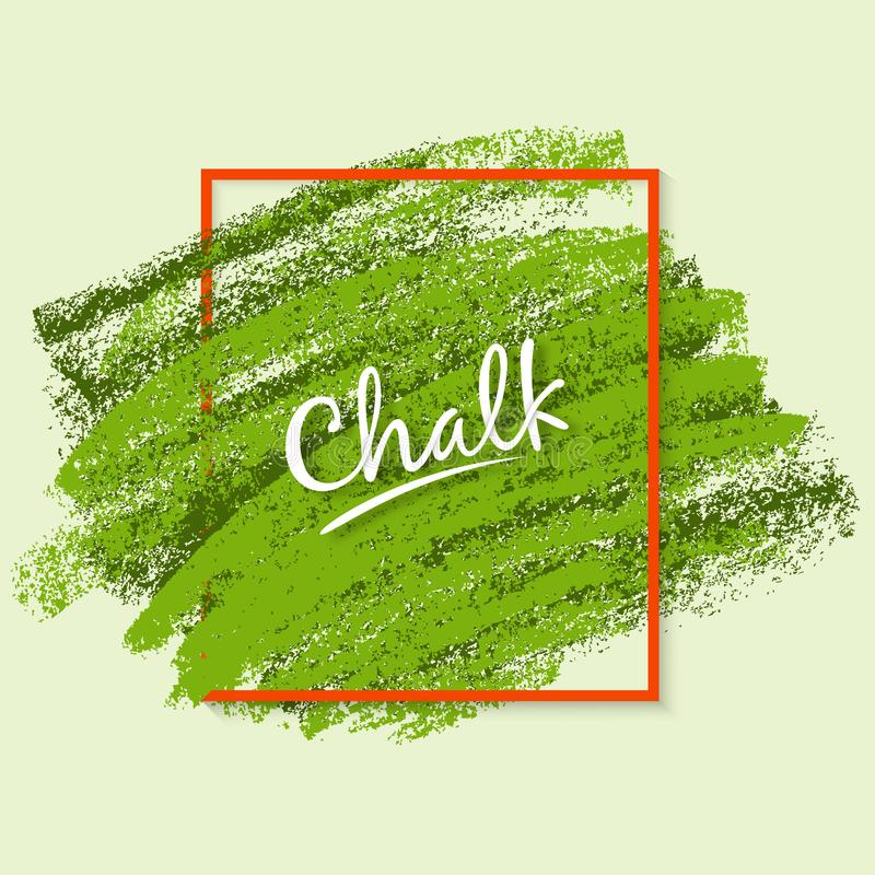 Stock vector. Textures of chalk. Dynamic brush strokes in a decorative frame. Wide artistic brush. Chalk. royalty free illustration