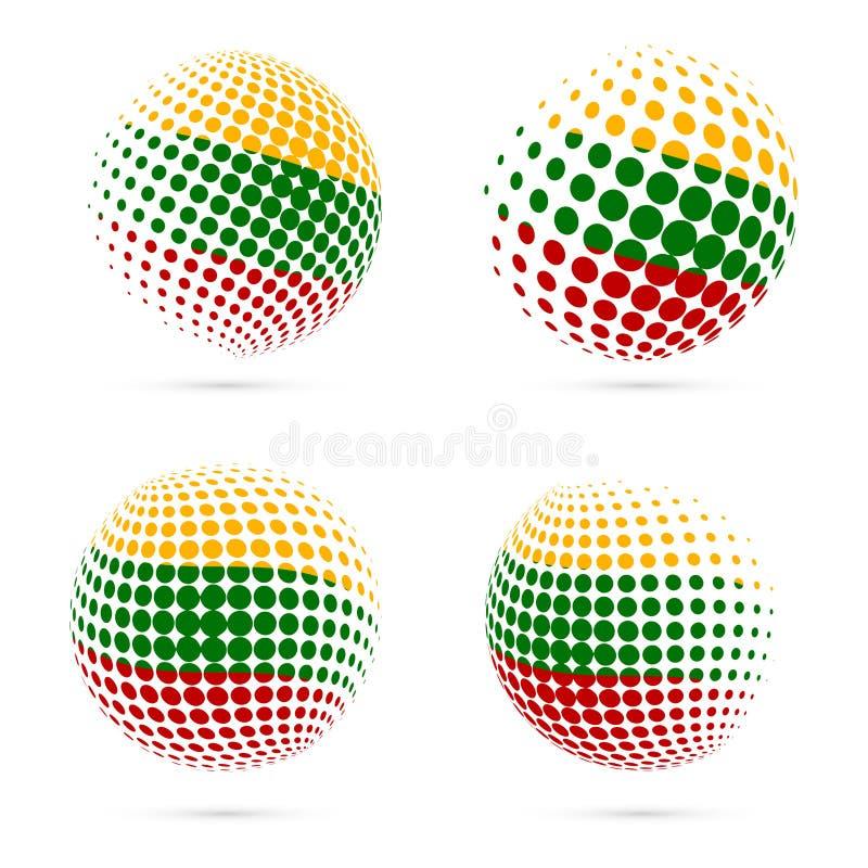 Vector patriótico determinado de la bandera de semitono de Lituania libre illustration