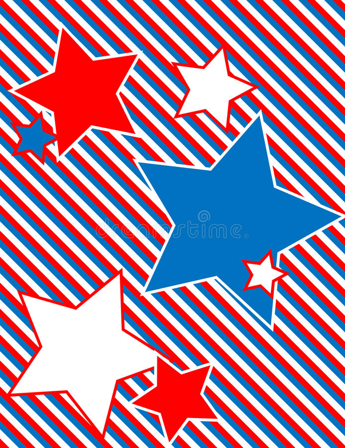 Vector Patriotic Star Background with Stripes stock photography