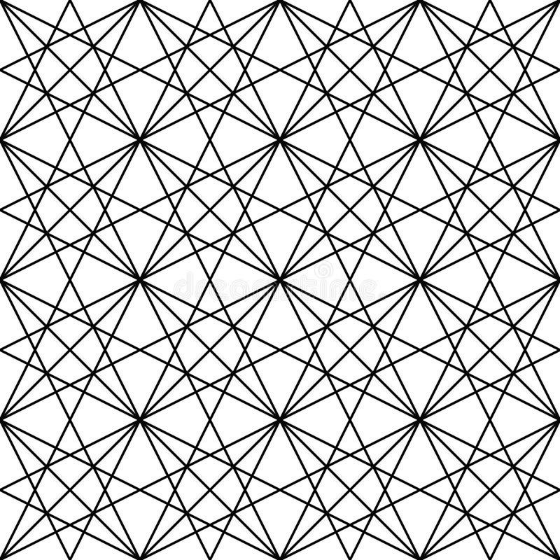 Vector patroon Moderne modieuze abstracte textuur Het herhalen van geometrische tegels van gestreepte elementen royalty-vrije illustratie