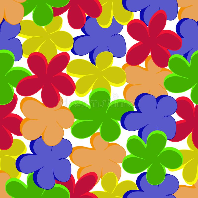 Vector pattern with colors stock illustration