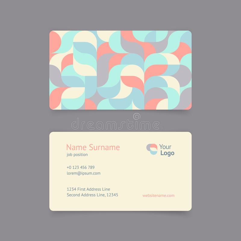 Vector pattern creative vintage business card stock illustration