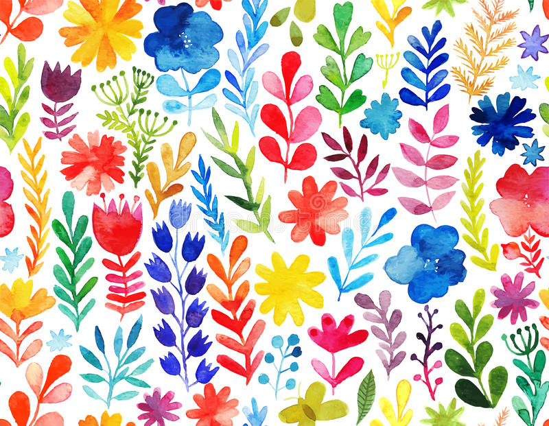 Vector pattern with flowers and plants. Floral decor. Original floral seamless background. Vector pattern with flowers and plants. Floral decor. Original floral