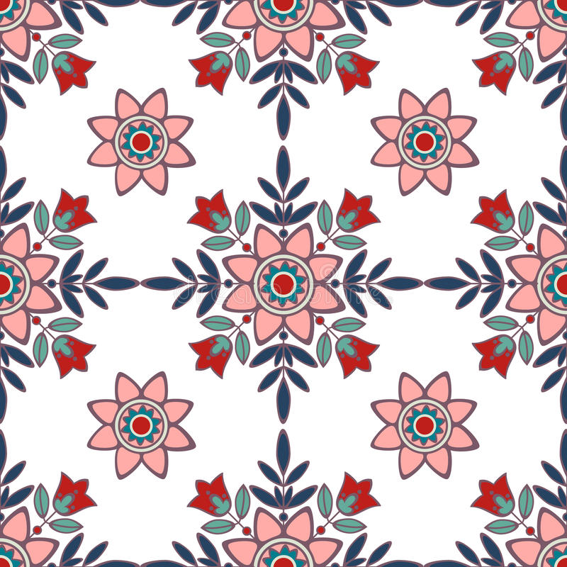 Vector pattern with folk ornament royalty free illustration