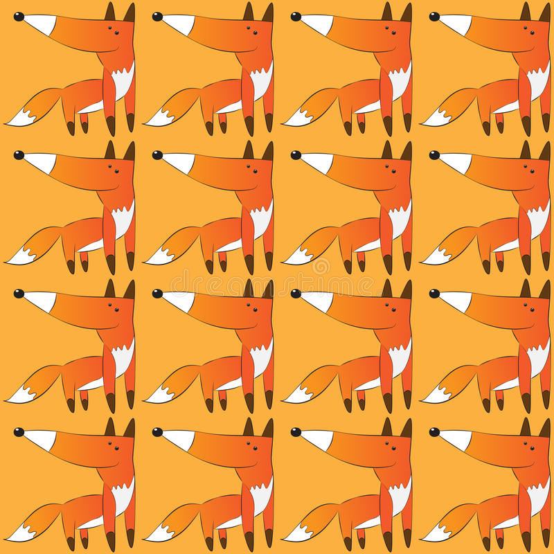 Vector Pattern of Fox royalty free stock image