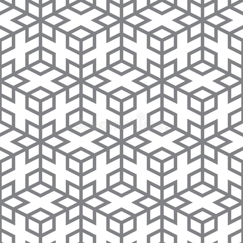 Vector Pattern - Geometric Design From Gray Lines Royalty Free Stock Photo
