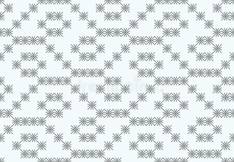 Vector pattern, from gray crosses, asterisks on a white background. royalty free illustration