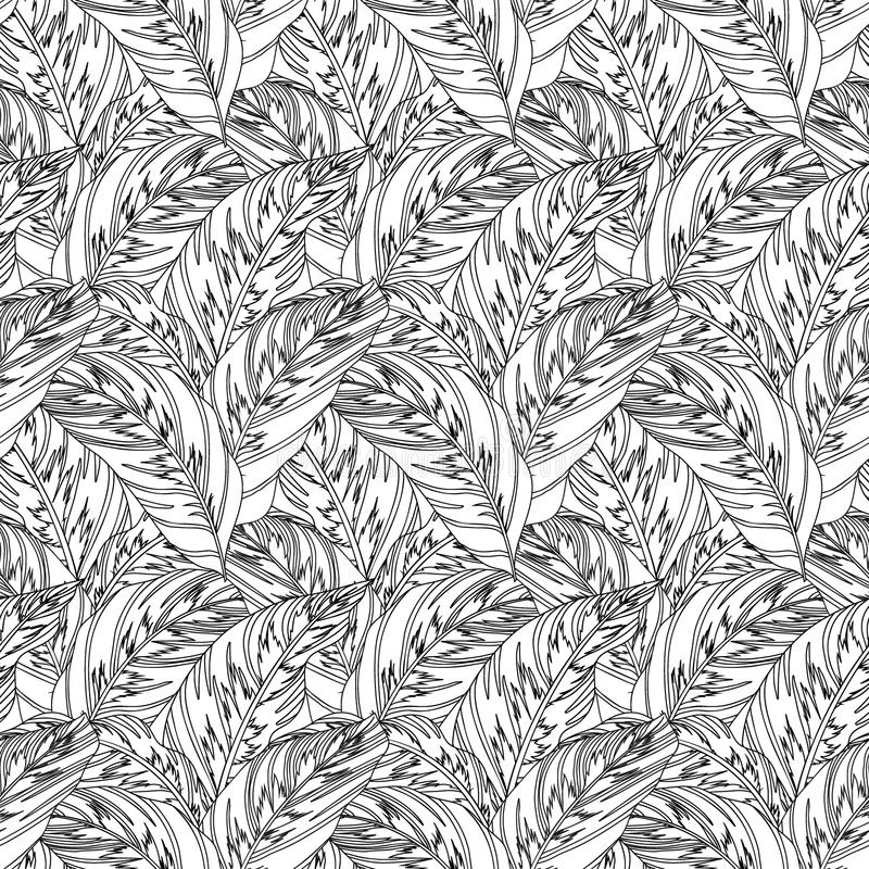 Jungle pattern with tropical leaves vector illustration