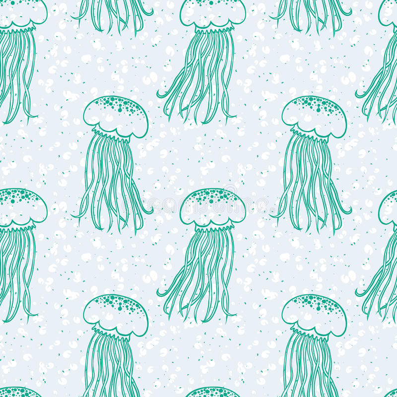 Download Vector Pattern With Jellyfishes And Bubbles Stock Vector - Image: 29289086
