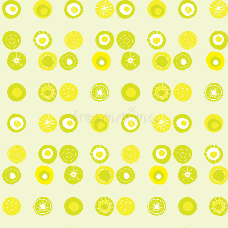 Vector pattern with lime coloured dots