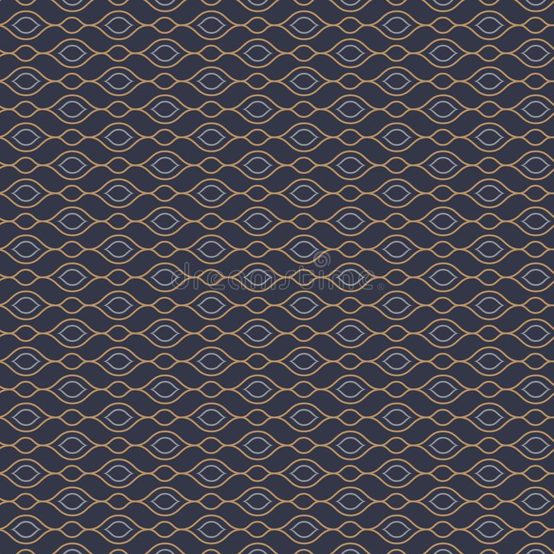 Vector pattern with linear waves garland on horizontal. graphic clean design for fabric, event, wallpaper etc. Pattern is on swatches panel vector illustration