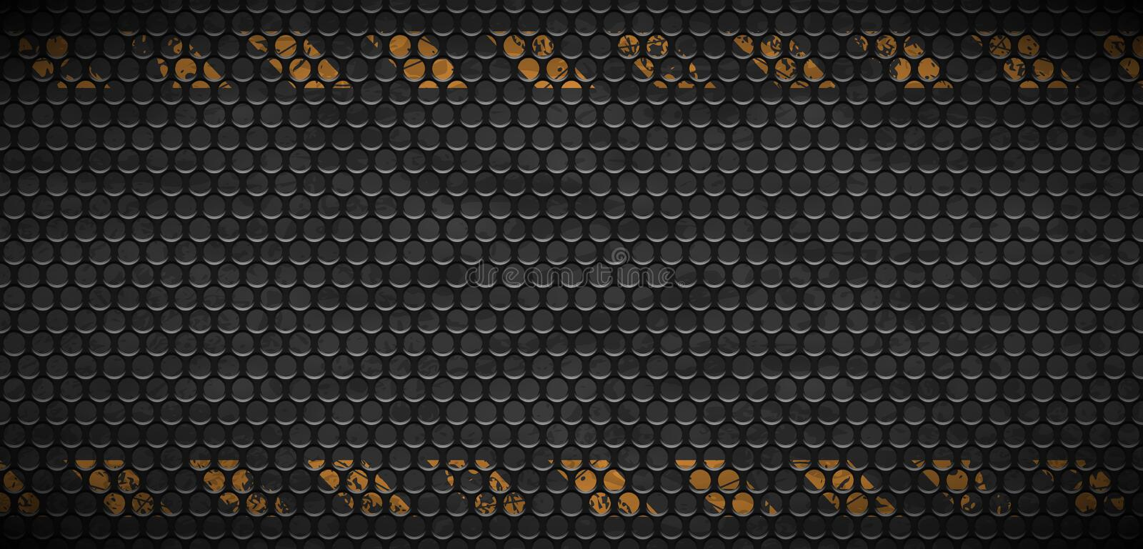Vector pattern of metal rusty grid urban grunge background. Old black iron grill industrial texture. Web page industrial banner vector illustration