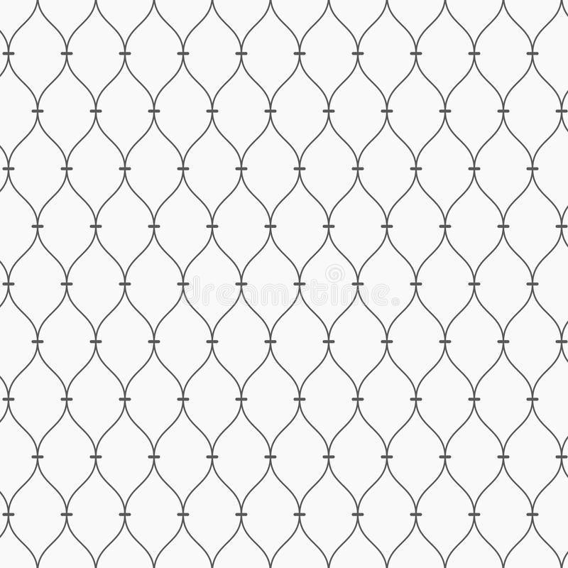 Vector pattern. Modern dotted texture. Repeating abstract background. Simple wavy linear grid. Graphic minimalist backdrop. Pattern is on swatches panel stock illustration